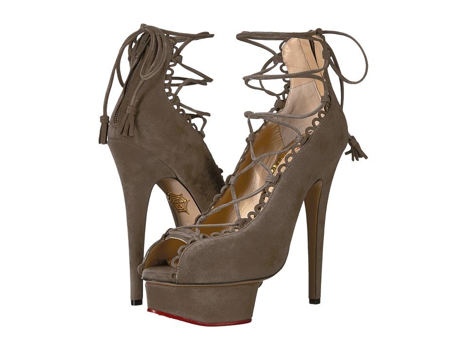 Charlotte Olympia Gladys (Grey Suede) High Heels