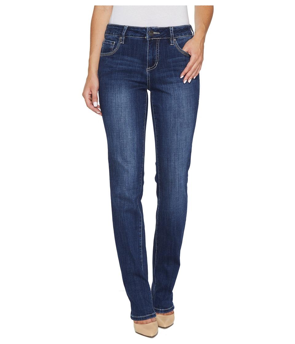 Jag Jeans Adrian Straight Jeans in Crosshatch Denim in Thorne Blue (Thorne Blue) Women