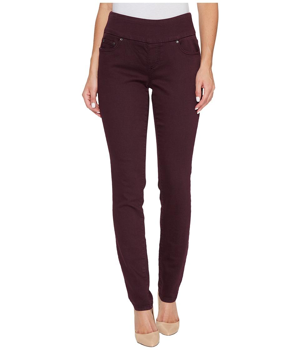 Jag Jeans Nora Pull-On Skinny in Color Knit Denim in Plum Noir (Plum Noir) Women