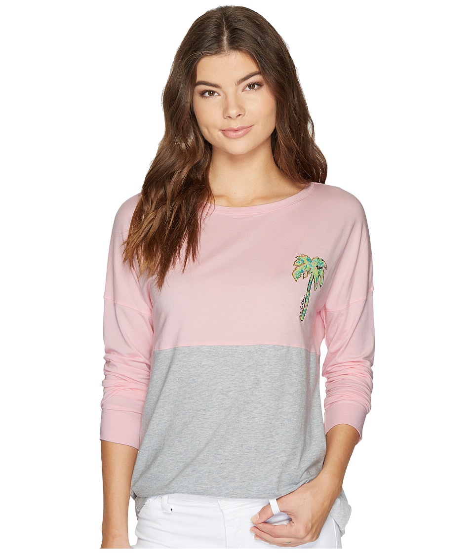Lilly Pulitzer Finn Tee (Paradise Pin Print Filled Palm Beach Graphic) Women