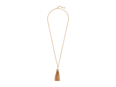 Lilly Pulitzer Flora Tassel Necklace - Gold Metallic