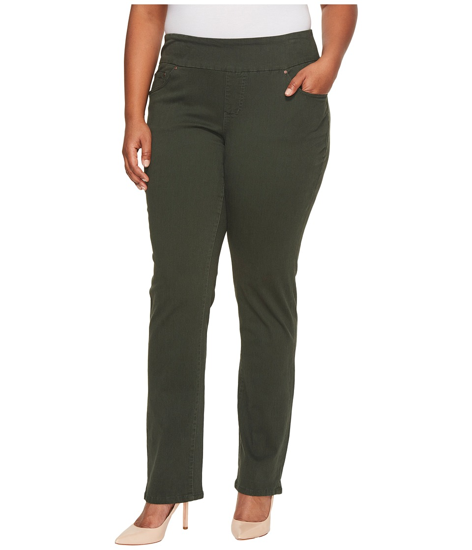 Jag Jeans Plus Size Plus Size Peri Pull-On in Bay Twill (Green Spruce) Women
