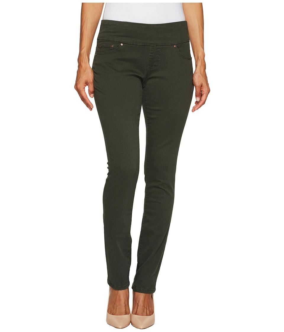 Jag Jeans Petite Petite Peri Pull On Straight Twill Pants (Green Spruce) Women