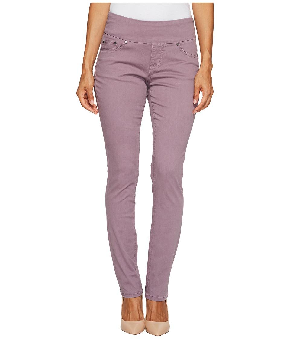 Jag Jeans Petite Petite Peri Pull On Straight Twill Pants (Purple Mist) Women