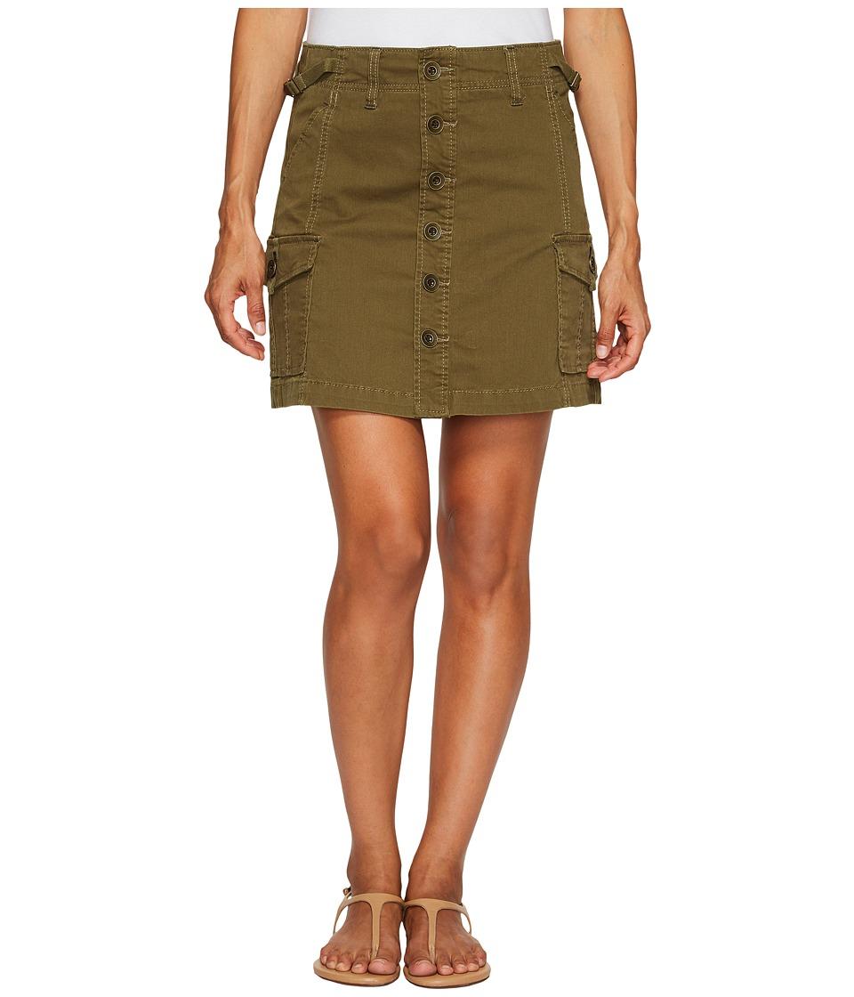 Jag Jeans Petite Petite Boardwalk Skirt in Divine Twill (Hedge) Women