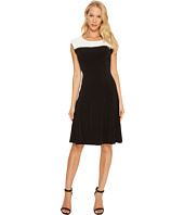 Calvin Klein - Sleeveless Dress with Zipper Yoke