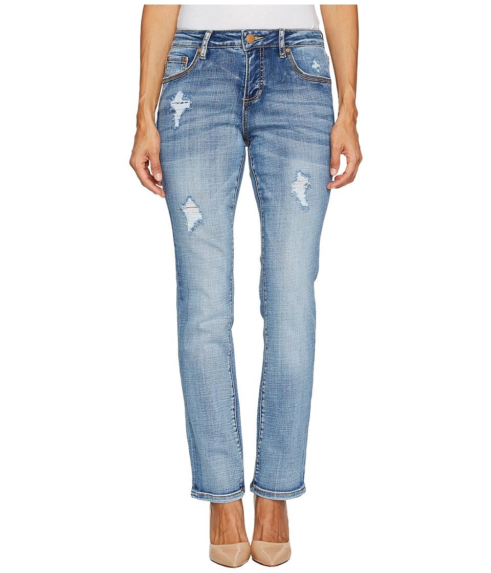 Jag Jeans Petite Petite Adrian Straight Jeans in Crosshatch Denim in Mid Vintage (Mid Vintage) Women