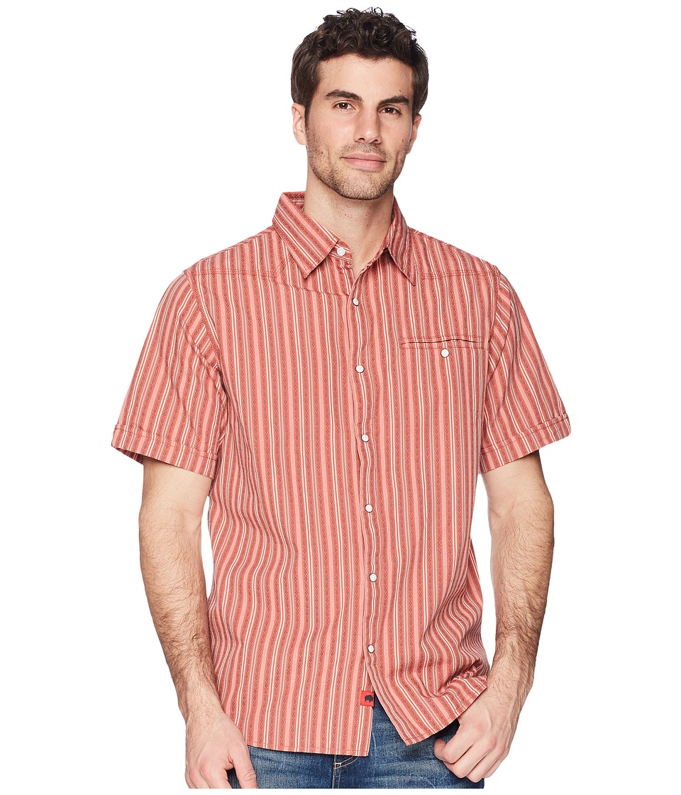 Mountain Khakis - El Camino Short Sleeve (Rojo) Mens Clothing