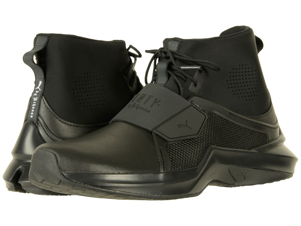 Puma The Trainer Hi by Fenty (Black/Black) Women's Shoes