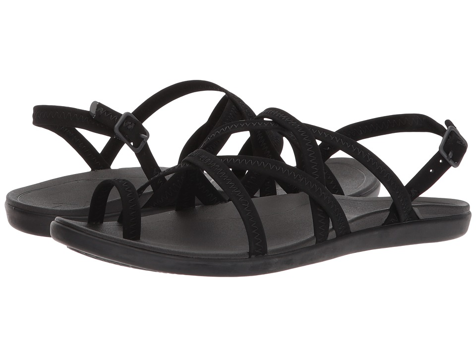 OluKai - Kalapu (Black/Black) Women's Sandals