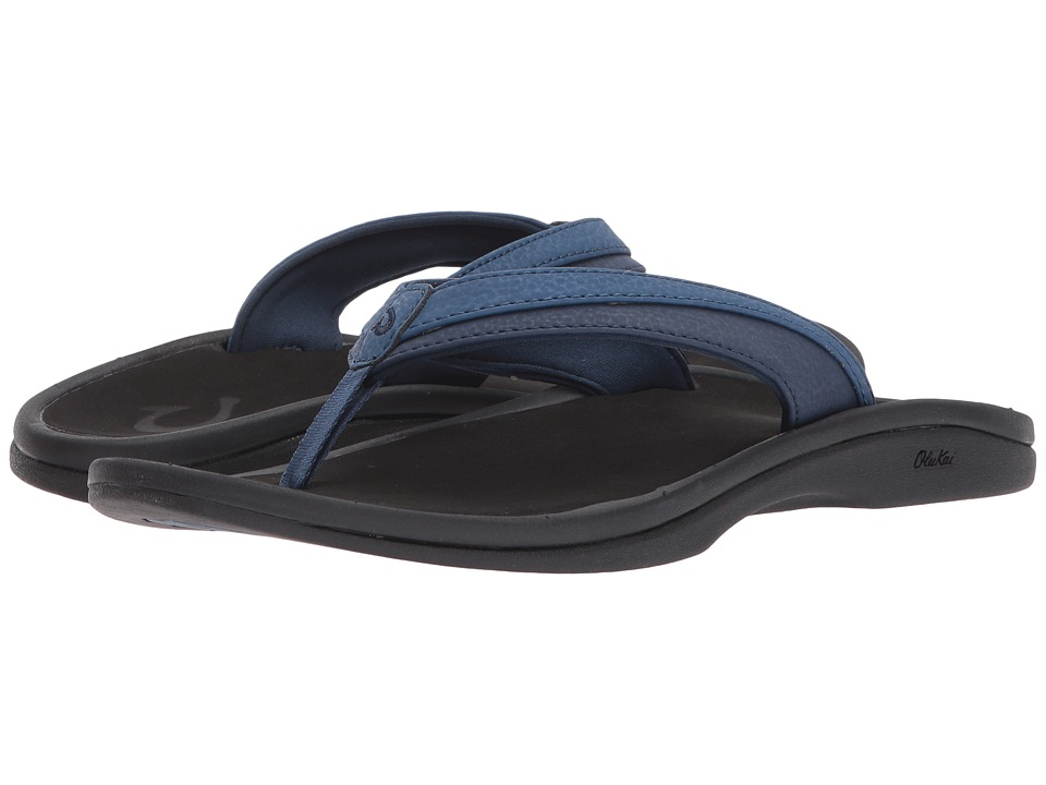 OluKai Ohana W (Blueberry/Black) Sandals