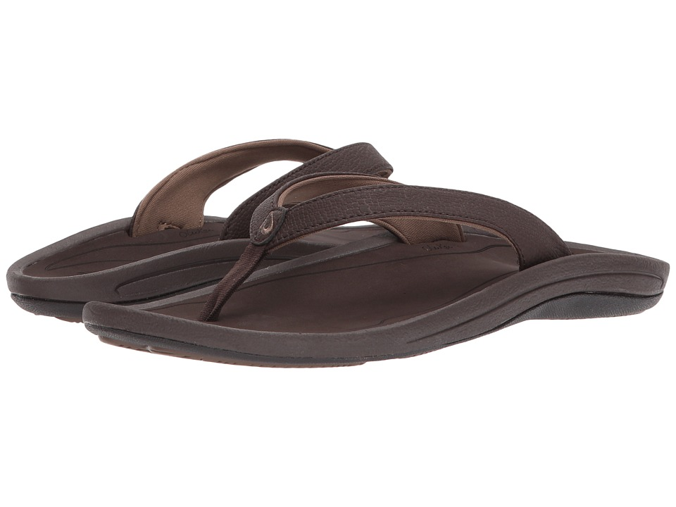 OluKai Kulapa Kai W (Dark Java/Dark Wood) Sandals