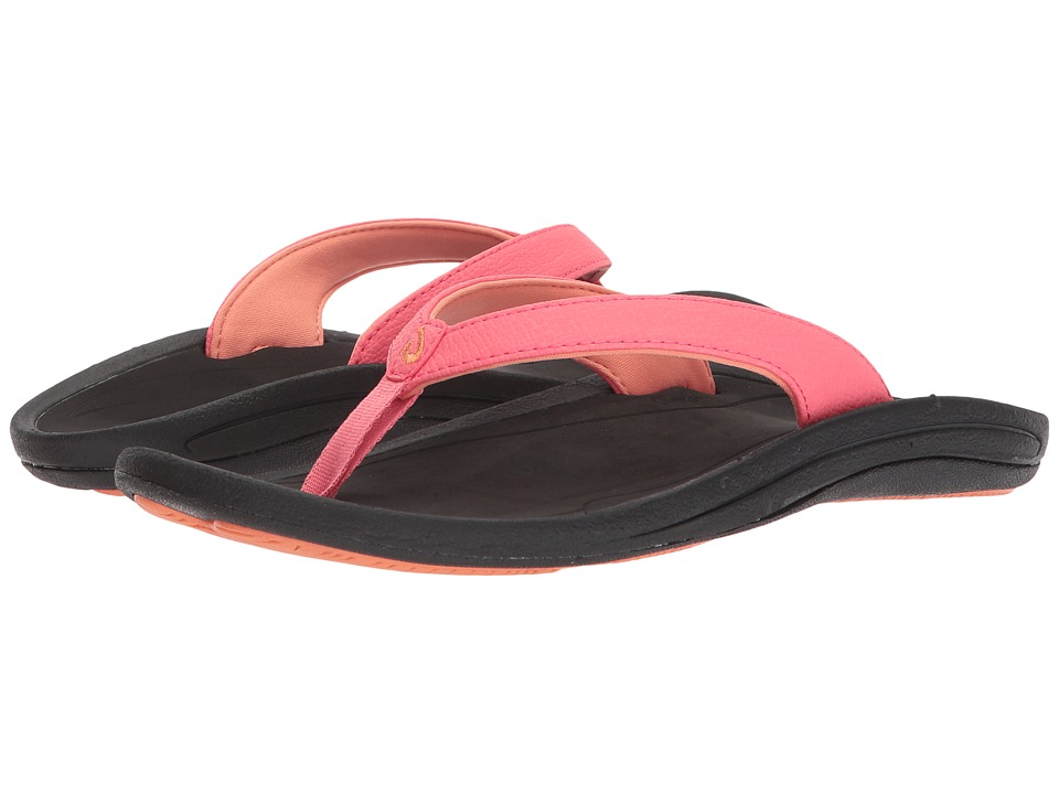 OluKai Kulapa Kai W (Guava Jelly/Black) Sandals