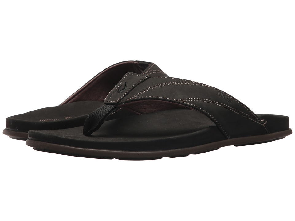 OluKai - Pikoi (Black/Black) Men's Sandals