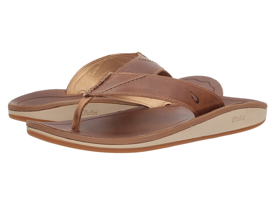 OluKai - Nohona 'Ili (Tan/Tan) Men's Sandals