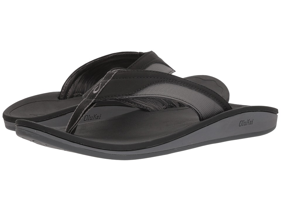 OluKai - Nohana (Black/Black) Men's Sandals