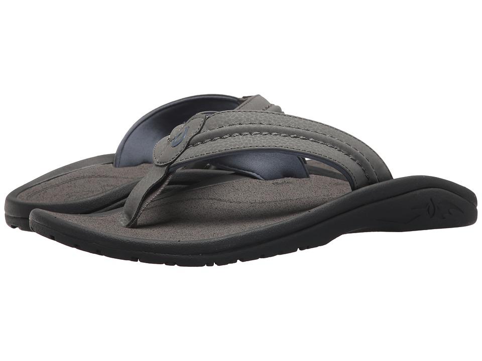OluKai - Hokua (Charcoal/Charcoal) Men's Sandals