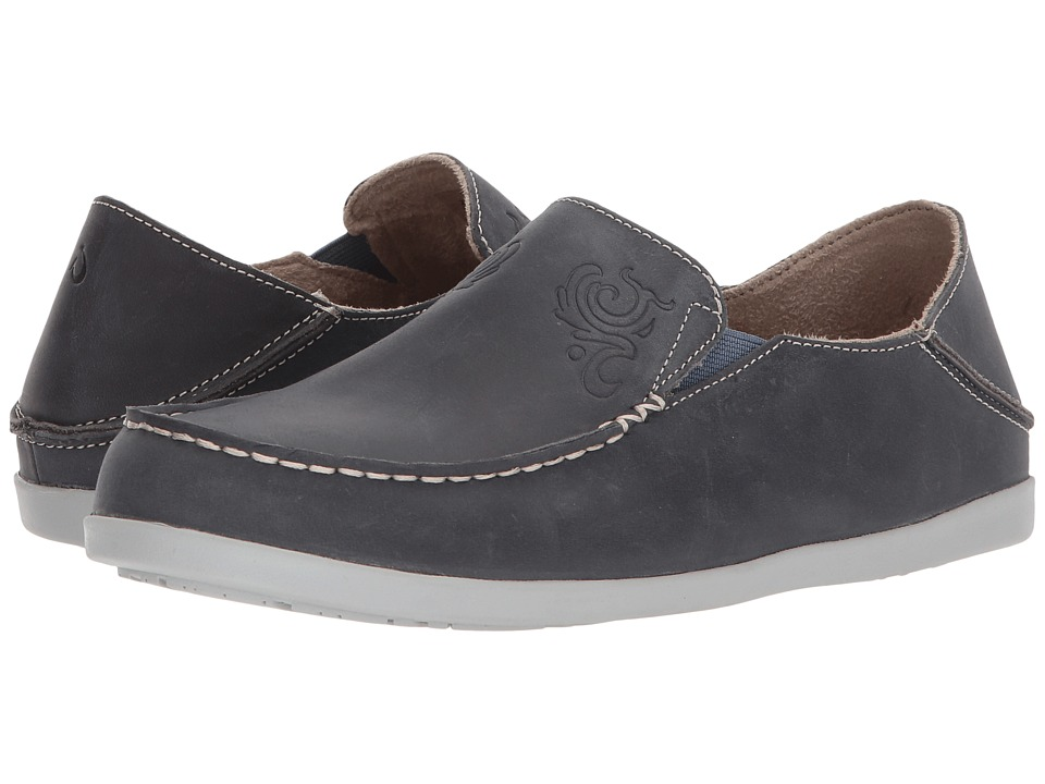 OluKai - Nohea Nubuck (Vintage Indigo/Pale Grey) Womens Slip on  Shoes