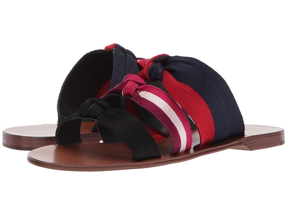 Diane von Furstenberg - Bree (Black/Lipstick/Navy Ribbon) Womens Shoes
