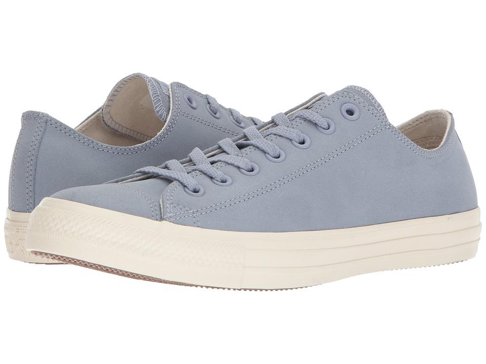 Converse - Chuck Taylor All Star Nubuck Ox (Glacier Grey/Egret/Egret) Athletic Shoes