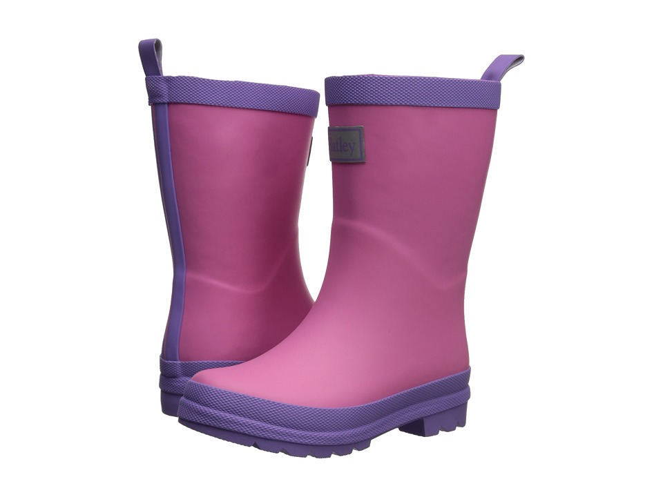 Hatley Kids Pink and Purple Rain Boots (Toddler/Little Kid) (Pink/Purple) Girls Shoes