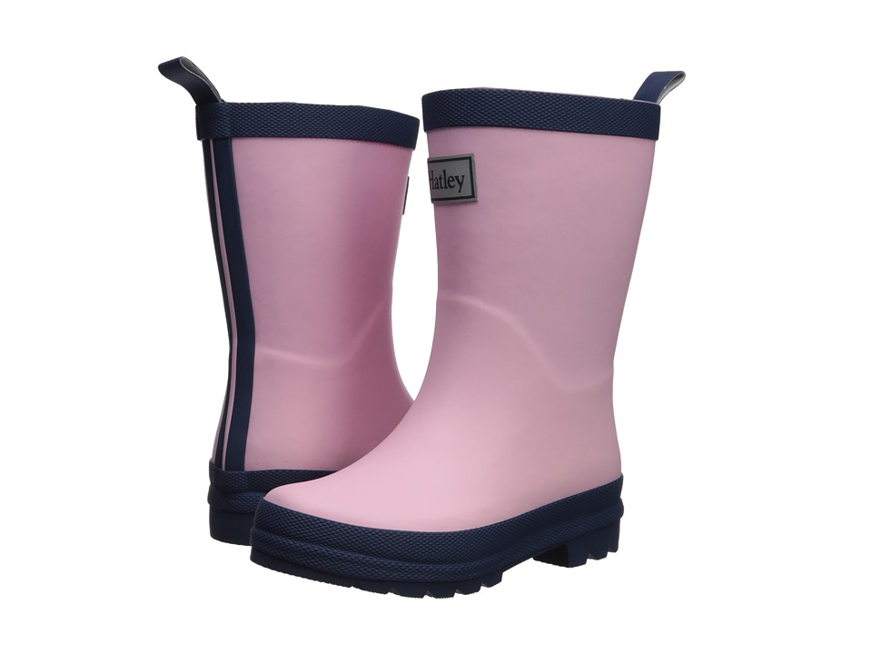 Hatley Kids Pink and Navy Rain Boots (Toddler/Little Kid) (Pink/Navy) Girls Shoes