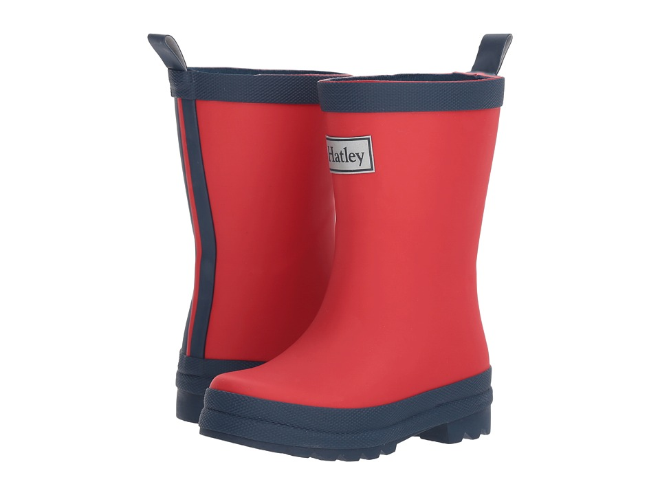 Hatley Kids Red and Navy Rain Boots (Toddler/Little Kid) (Red/Navy) Kids Shoes