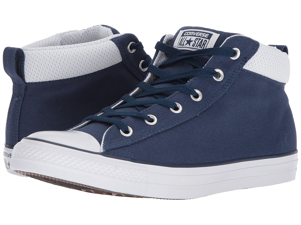 Converse - Chuck Taylor(r) All Star(r) Street Mid (Navy/Navy/White) Mens  Shoes