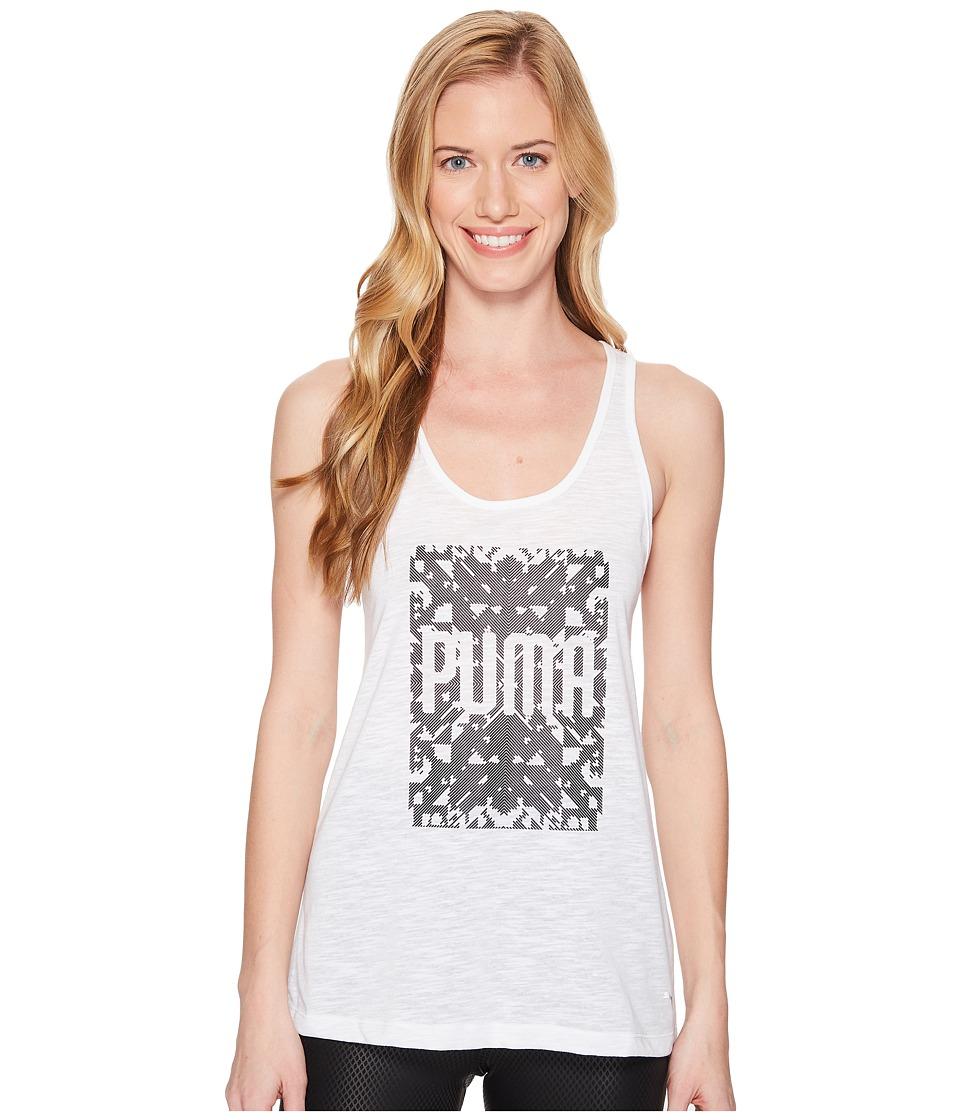 PUMA Essential Dri-Release Tank Top (Pume White Heather) Women