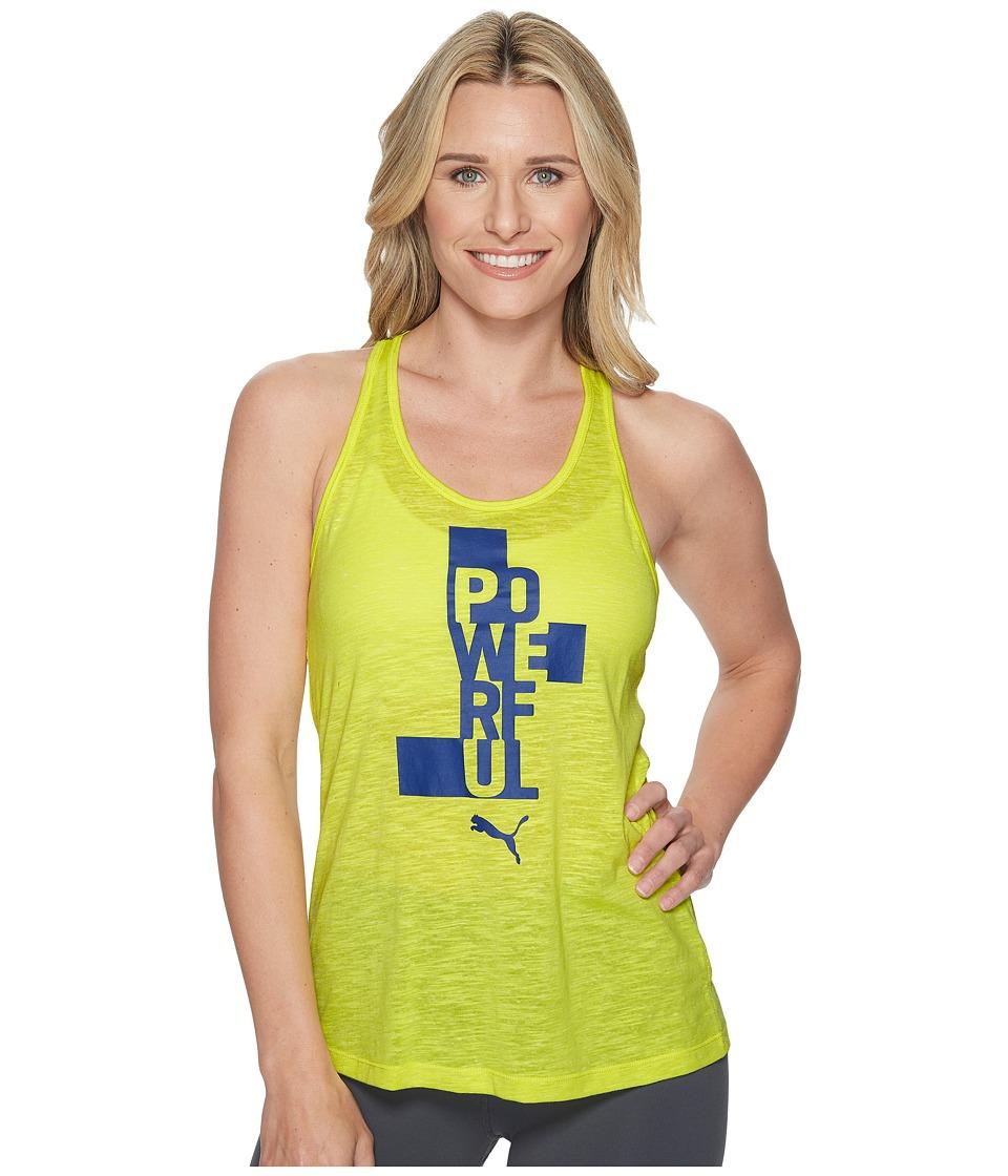 PUMA Essential Dri-Release Tank Top (Lemon Tonic Heather) Women