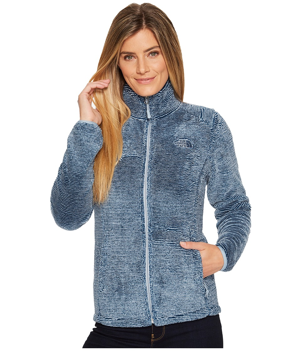 North Face Osito 2 Jacket (Blue Wing Teal/Dusty Blue Stri...