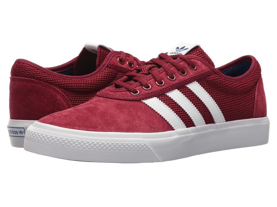 Image of adidas Skateboarding - Adi-Ease (Collegiate Burgundy/Footwear White/Collegiate Royal) Skate Shoes