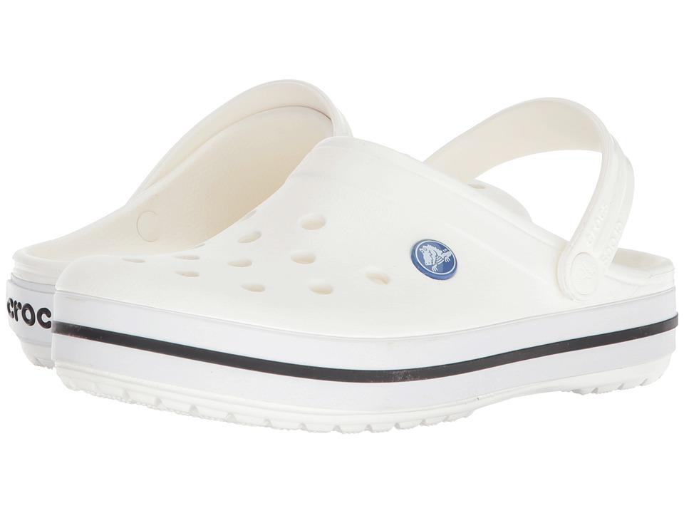 Crocs Crocband Clog (White/Blue Jean) Clog Shoes