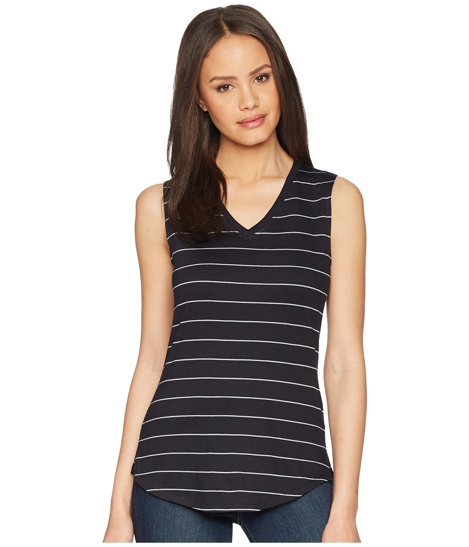 Mountain Khakis - Cora Tank (Black Stripe) Womens Sleeveless