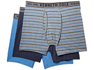 Kenneth Cole Reaction Bronx Stripe Performance Cotton Stretch 3-Pack Boxer Briefs