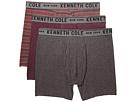 Kenneth Cole Reaction Bronx Stripe Performance Cotton Stretch 3-Pack Boxer Briefs