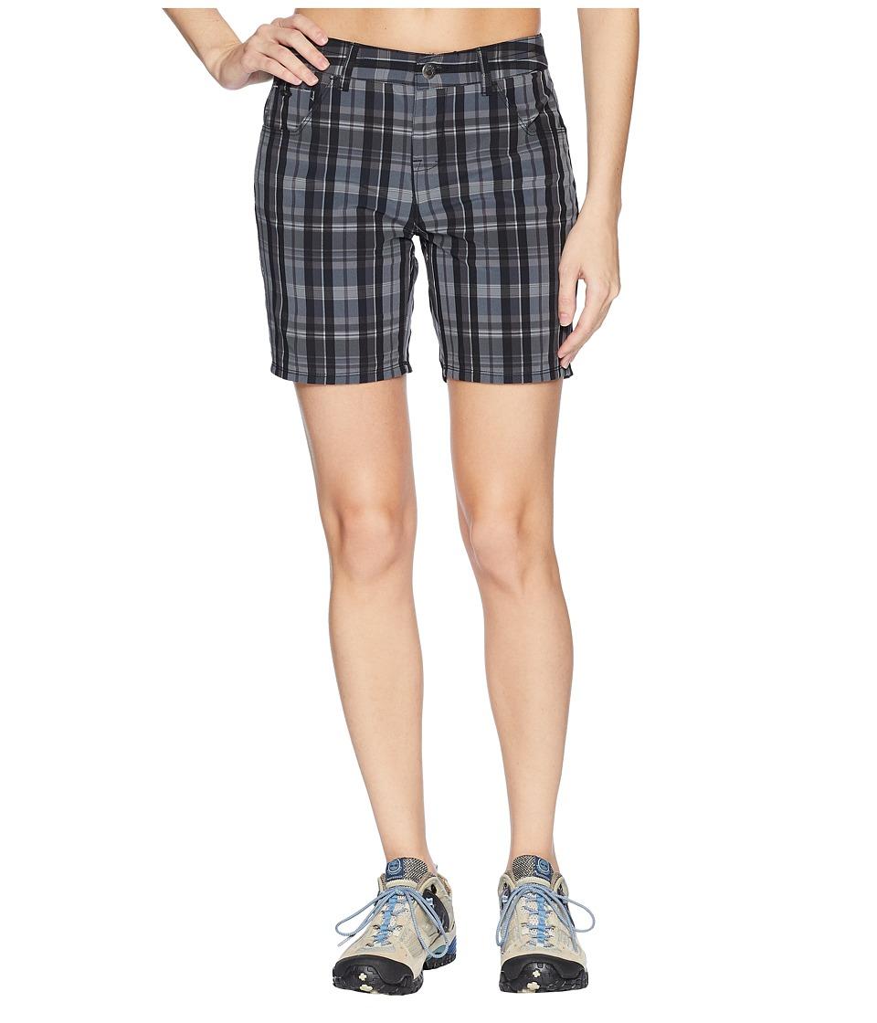 Mountain Khakis - Azalea Shorts Classic Fit (Black Plaid) Womens Shorts