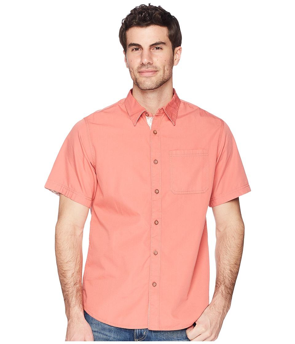 Mountain Khakis - Cottonwood Short Sleeve Shirt (Rojo Solid) Mens Clothing