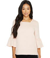 Calvin Klein - Textured Square Neck Flutter Sleeve Blouse