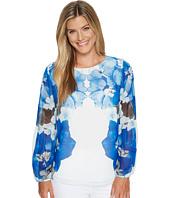 Calvin Klein - Printed Peasant Sleeve Blouse