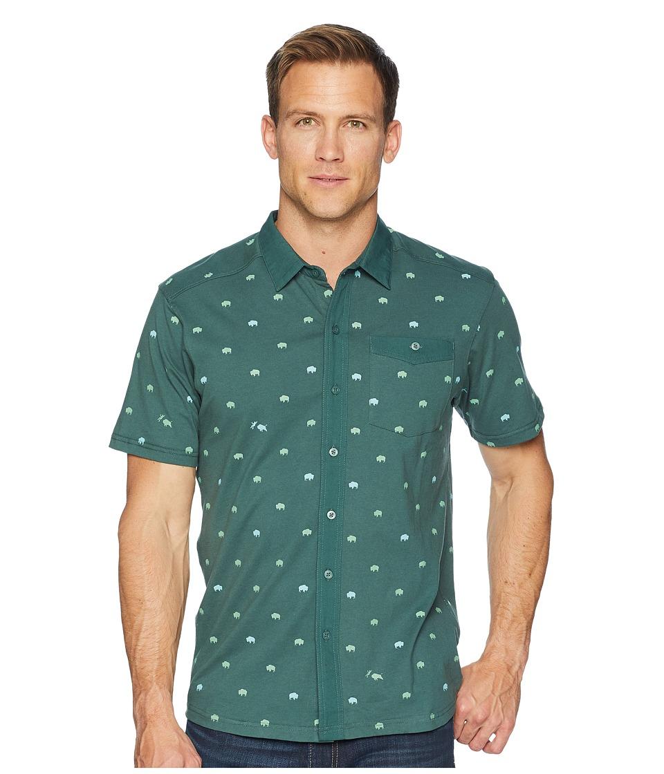 Mountain Khakis - Tatanka Short Sleeve Shirt (Deep Sea Print) Mens Clothing