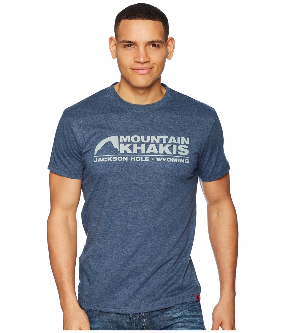Mountain Khakis - Logo T-Shirt (Twilight Heather) Mens T Shirt