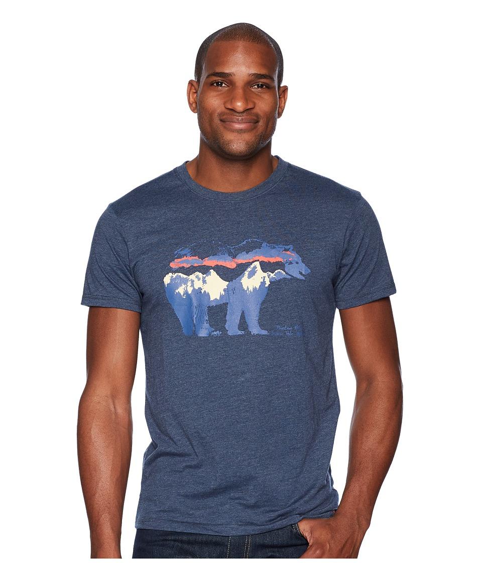 Mountain Khakis - Moon Eyed Bear T-Shirt (Twilight Heather) Mens T Shirt