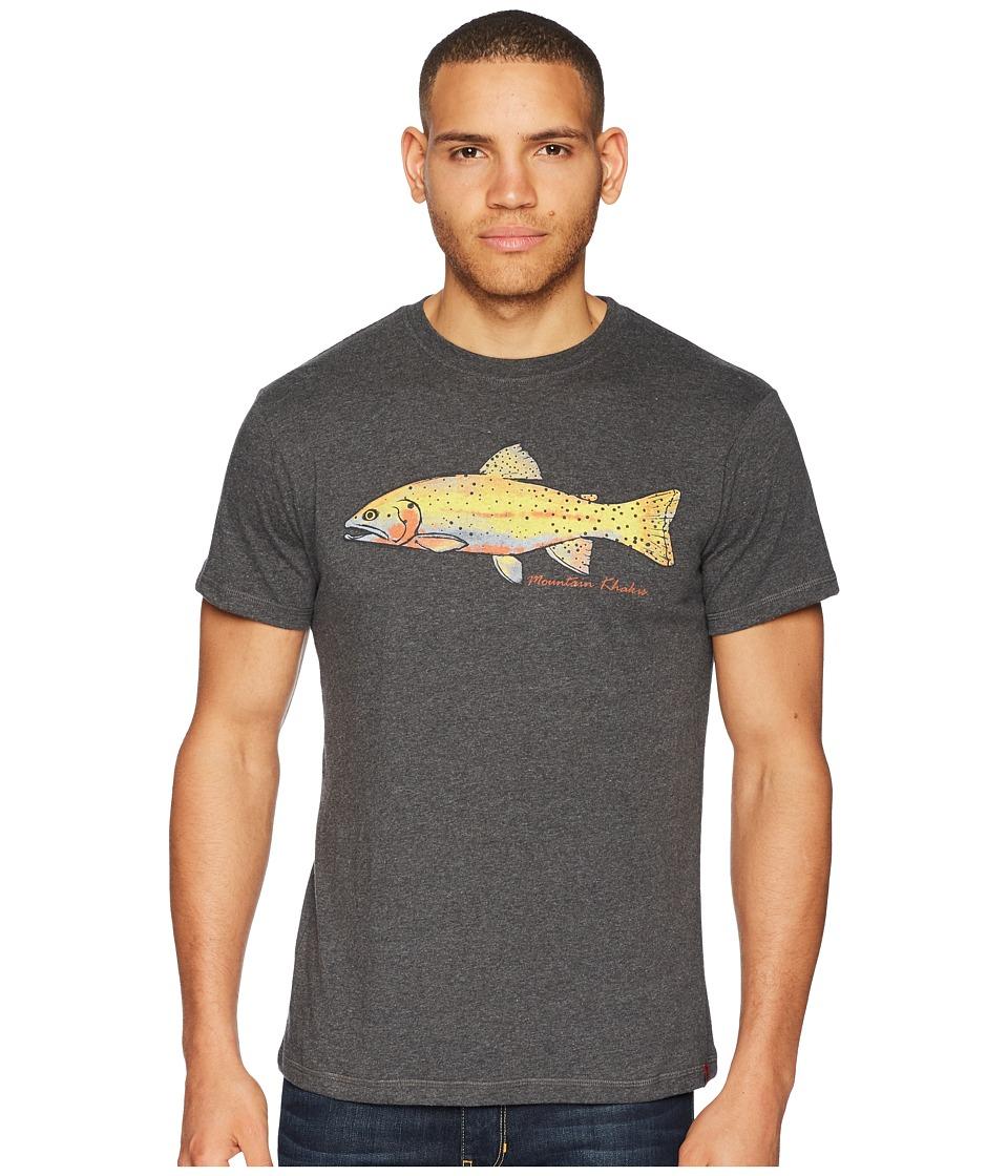 Mountain Khakis - Cutty T-Shirt (Charcoal Heather) Mens T Shirt