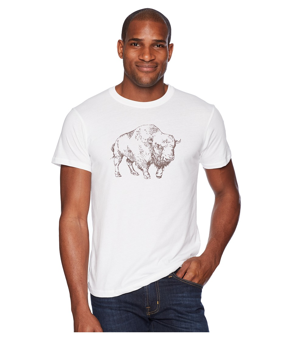 Mountain Khakis - Bison Illustration T-Shirt (White/Coffee) Mens T Shirt