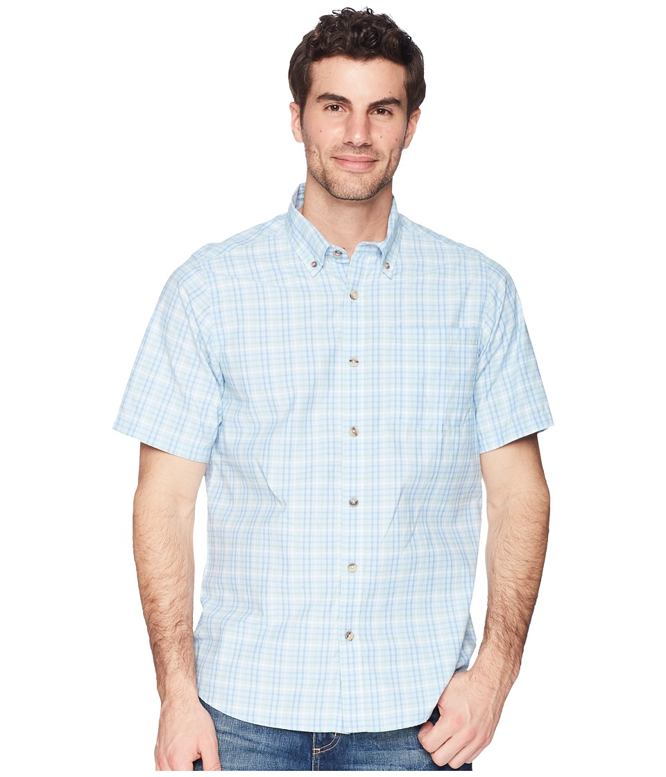 Mountain Khakis - Spalding Gingham Short Sleeve Shirt (Breeze) Mens Clothing