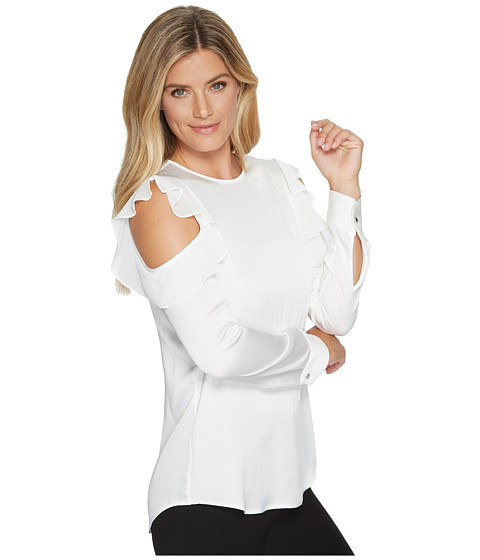 Calvin Klein Cold Shoulder Top with Flutter