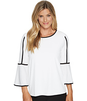Calvin Klein - Bell Sleeve Top with Piping