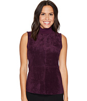 Calvin Klein - Sleeveless Mock Neck with Suede