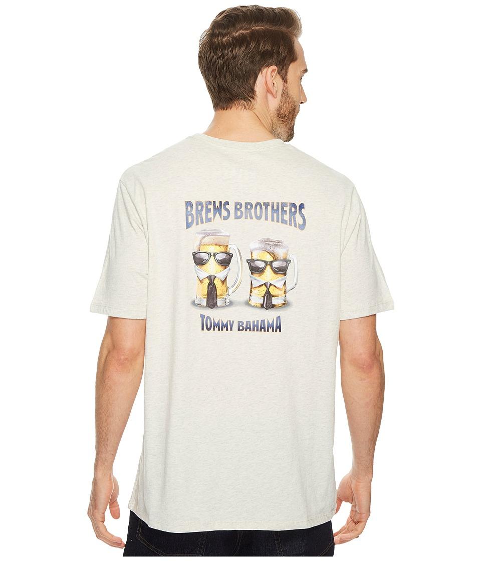 Tommy Bahama Brews Brothers T-Shirt (Light Grey Heather) Men